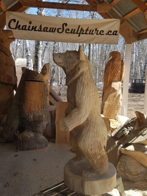 Chainsaw sculpture by jim niedermayer